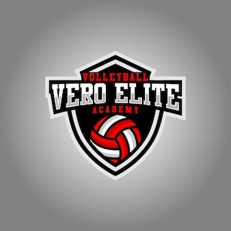 Logotipo do logotipo do vollyball elite de vero