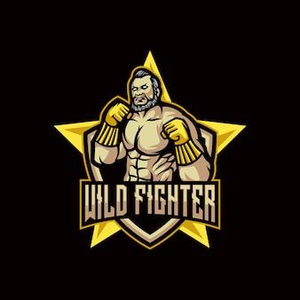 Logotipo do lutador selvagem