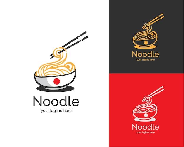 Logotipo do macarrão ramen japonês