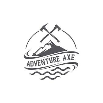Logotipo do machado de aventura