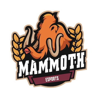 Logotipo do mamute e sports