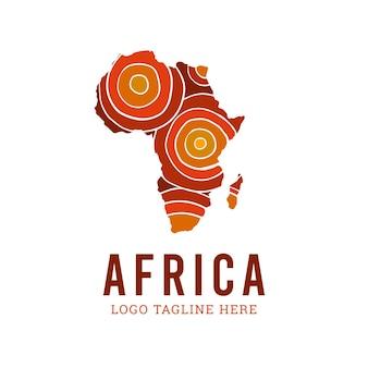 Logotipo do mapa da áfrica