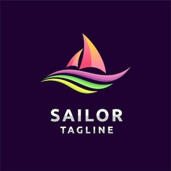 Logotipo do marinheiro com conceito divertido