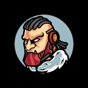 Logotipo do mascot do beast cyber sport