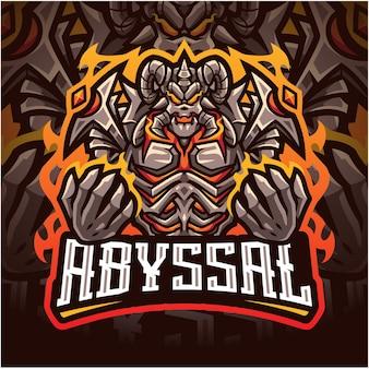 Logotipo do mascote abyssal esport