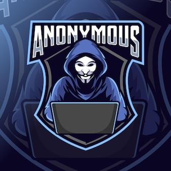 Logotipo do mascote anônimo esport