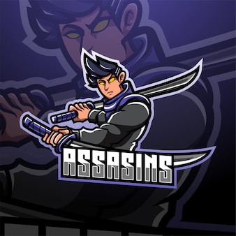 Logotipo do mascote assassin esport