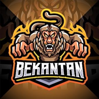 Logotipo do mascote bekantan esport