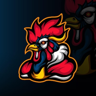 Logotipo do mascote chicken force esport
