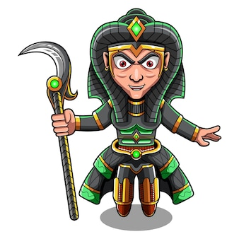 Logotipo do mascote cleopsis chibi