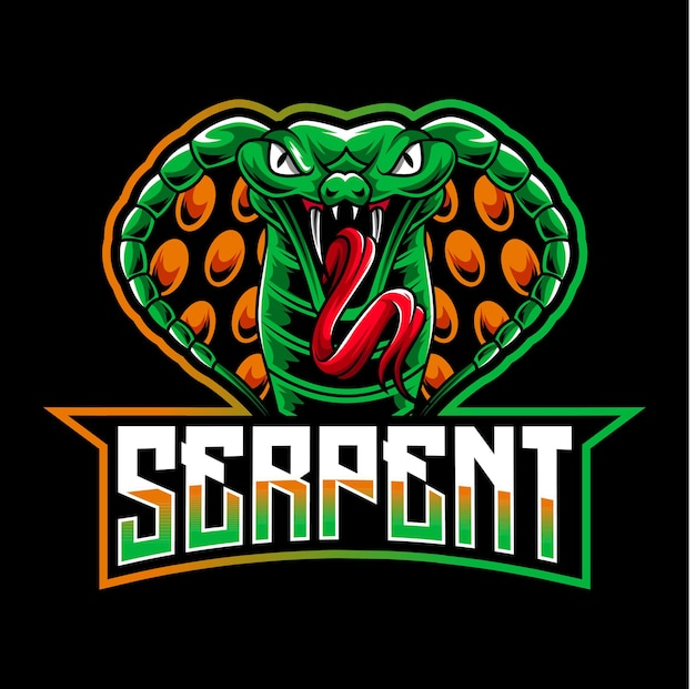 Logotipo do mascote cobra serpent