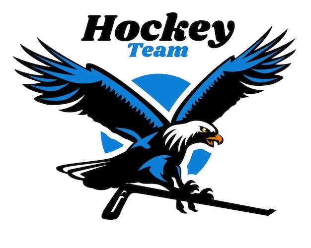 Logotipo do mascote da águia do hóquei