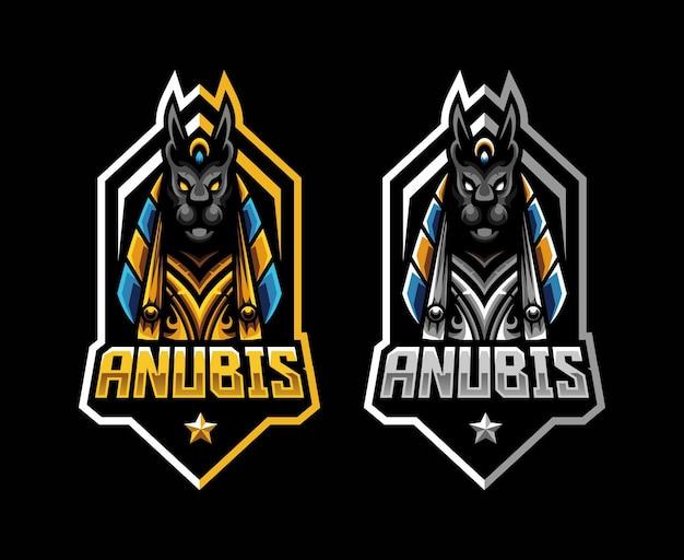 Logotipo do mascote da anubis para a equipe esportiva