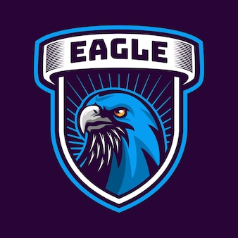 Logotipo do mascote da cabeça da águia