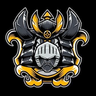 Logotipo do mascote da cabeça do robô