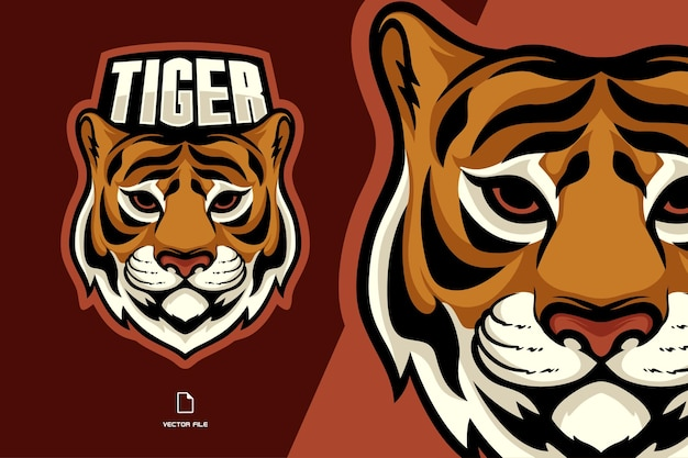 Logotipo do mascote da cabeça do tigre