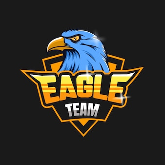 Logotipo do mascote da equipe de e-sports da eagle