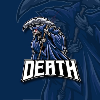 Logotipo do mascote da morte