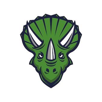 Logotipo do mascote de dinossauro