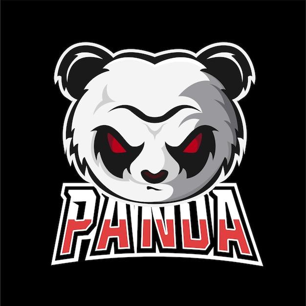 Logotipo do mascote de jogos esportivos e esportivos da panda