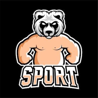 Logotipo do mascote de sumô sport e esport