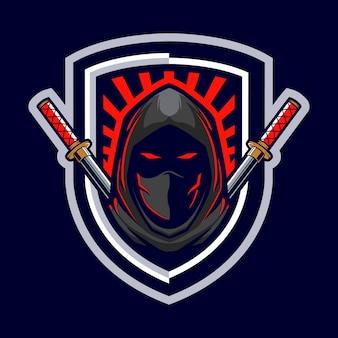 Logotipo do mascote do assassino ninja