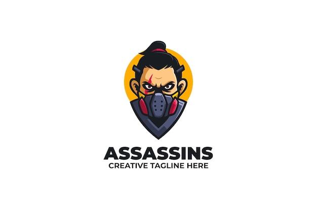 Logotipo do mascote do assassino