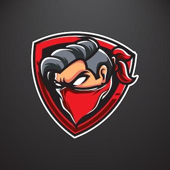 Logotipo do mascote do bandit e sport