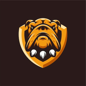 Logotipo do mascote do bulldog