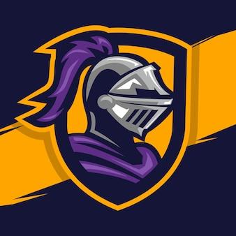 Logotipo do mascote do cavaleiro guerreiro