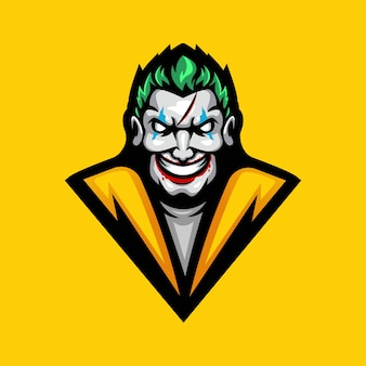 Logotipo do mascote do clown esport