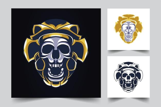 Logotipo do mascote do crânio