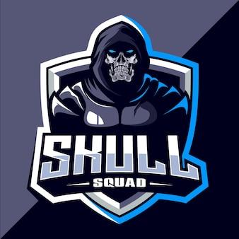 Logotipo do mascote do esquadrão do crânio