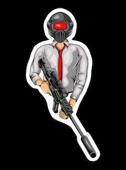 Logotipo do mascote do exército