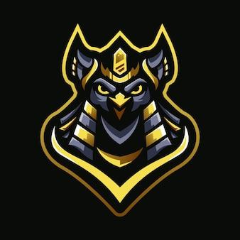 Logotipo do mascote do faraó coruja