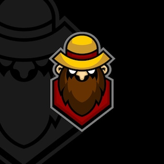 Logotipo do mascote do fazendeiro