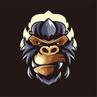 Logotipo do mascote do gorila