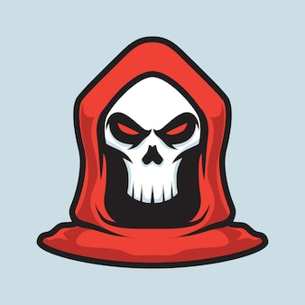 Logotipo do mascote do grim reaper