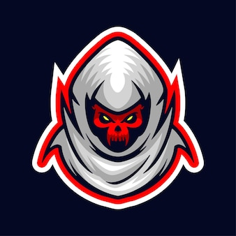 Logotipo do mascote do grim ripper logotipo do esport sport gamer e streamer logotipo do mascote head only
