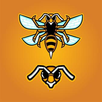 Logotipo do mascote do hornet