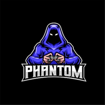Logotipo do mascote do jogador fantasma