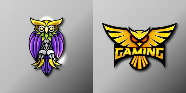 Logotipo do mascote do jogo owl