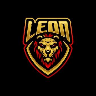Logotipo do mascote do leão esport gaming esport