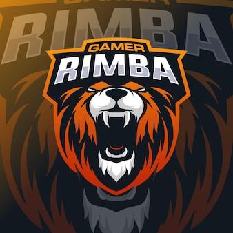 Logotipo do mascote do leão esport