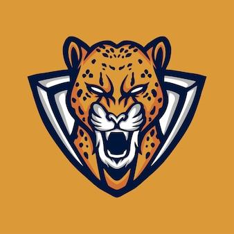 Logotipo do mascote do leopardo