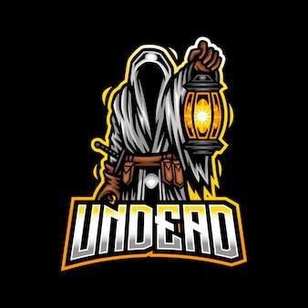 Logotipo do mascote do morto-vivo mascote esport gaming