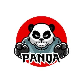 Logotipo do mascote do panda sensei