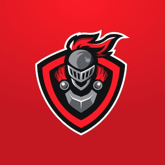 Logotipo do mascote do red knight