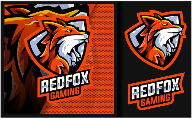 Logotipo do mascote do redfox mystic gaming