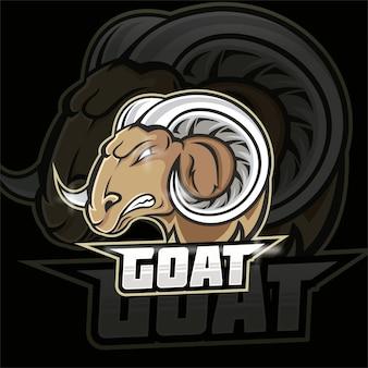 Logotipo do mascote do time de e-sports da cabra